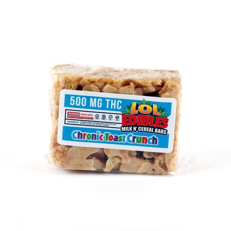 LOL Edibles Chronic Toast Cereal Bar 500 MG