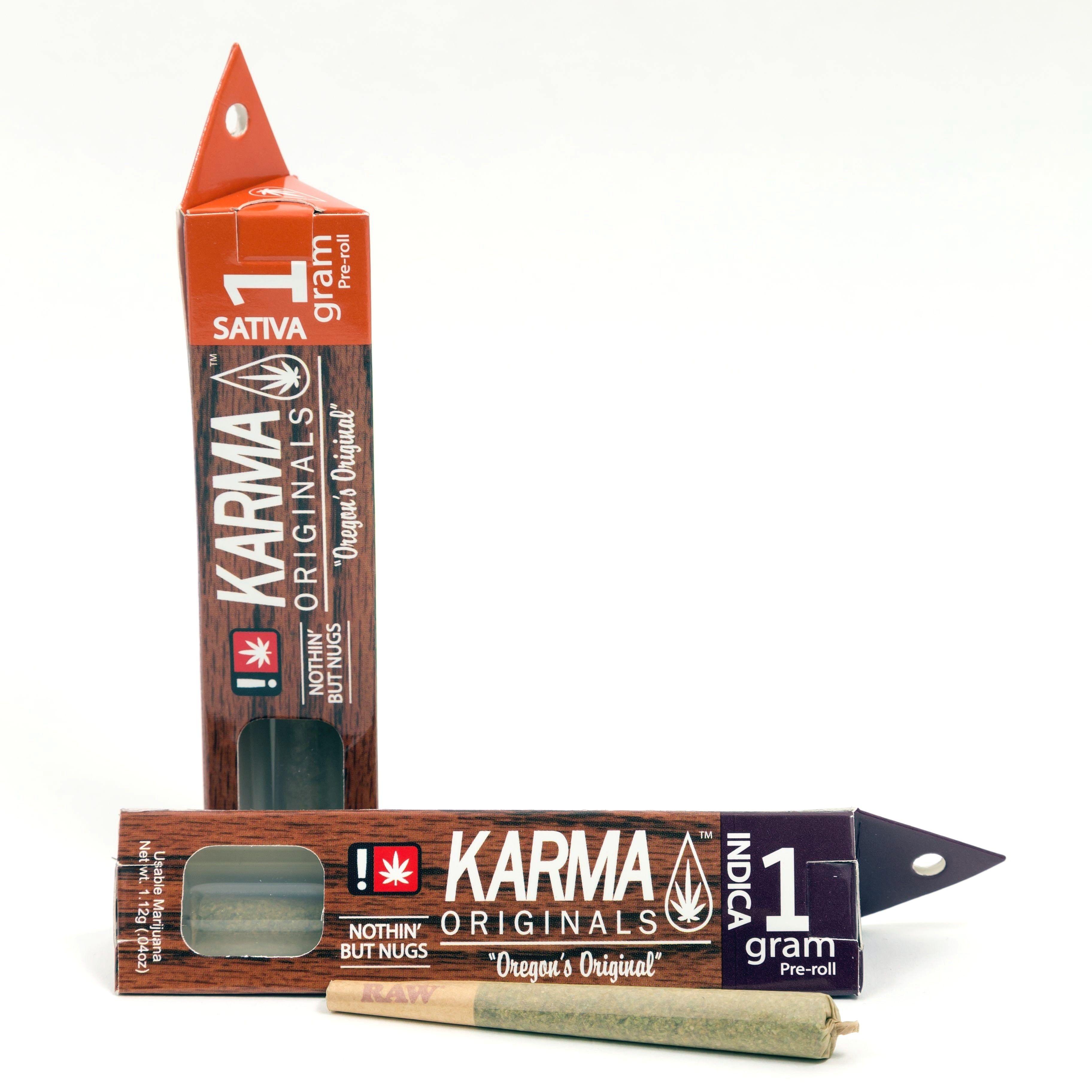 Karma Originals - White Tahoe Cookies 1g, Indica Hybrid, Pre-roll