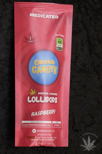 CannaCandys Lollipop - Raspberry