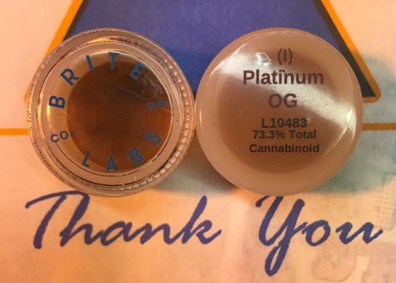 Brite Labs CO2 Jelly Wax Platinum OG 73.3% THC .5 gram