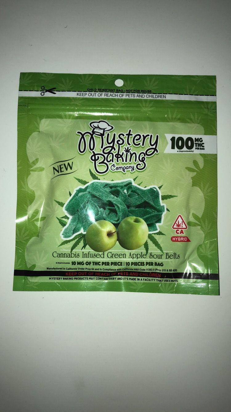 Mystery Baking Green Apple Sour Belts
