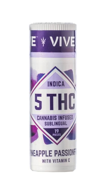 Vive Indica Pineapple Passionfruit Sublingual - 5mg THC
