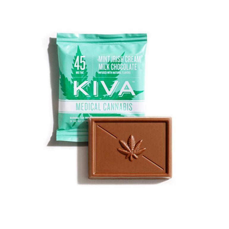kiva - Mint Irish Cream Milk Chocolate Mini - 45mg