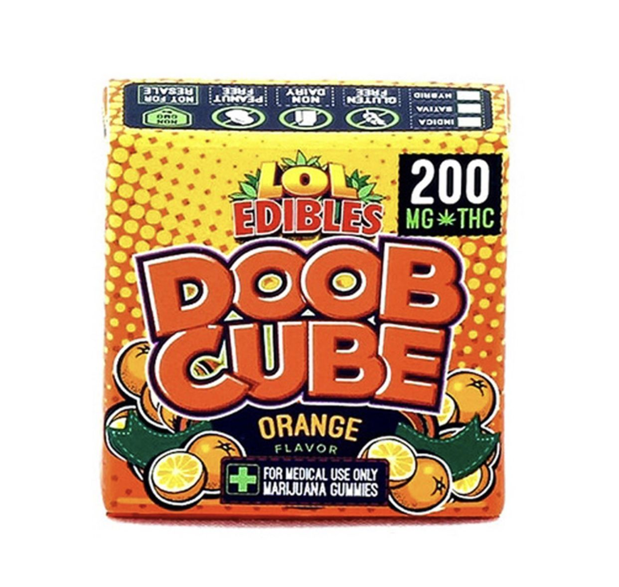 Orange Doob Cube - 200mg