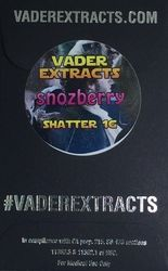 Vader Extracts- Snozberry Shatter 1g