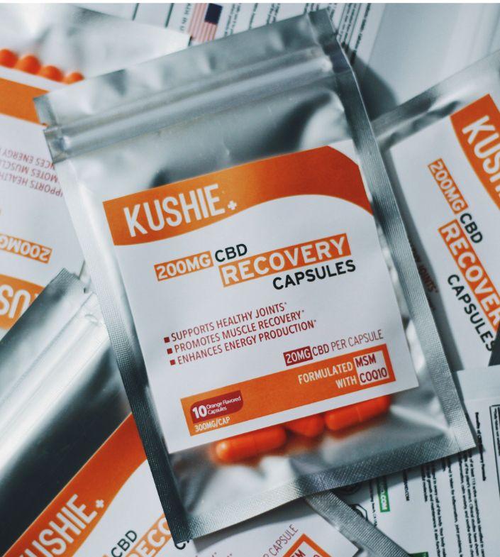 CBD Recovery Caps 200MG(10 Caps)- Kushie