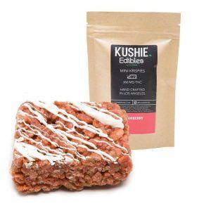 100MG Kushie Brand Strawberry Mini Krispies