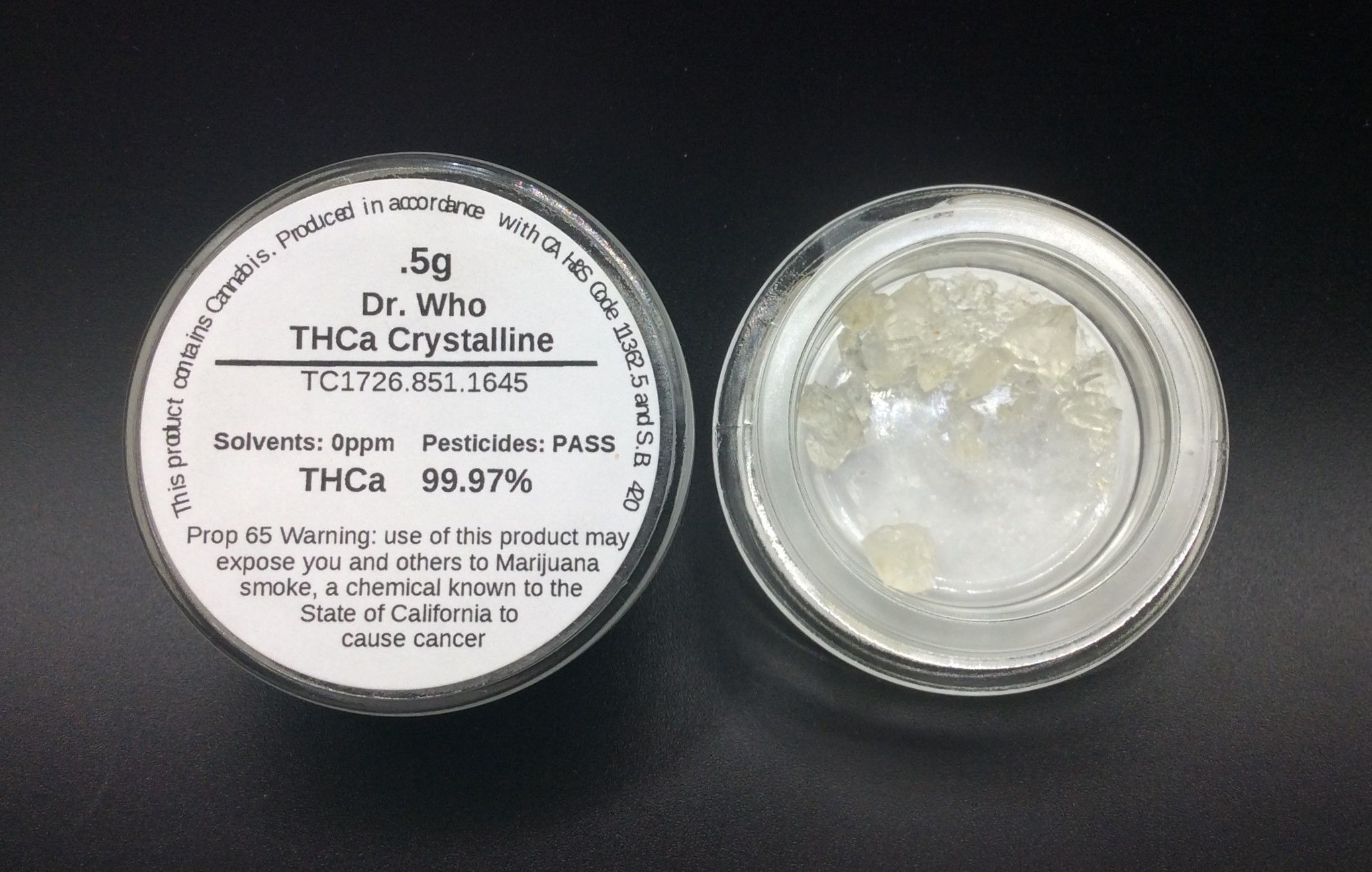 Dr. Who Crystalline w/ Terps by Guild Extracts .5g