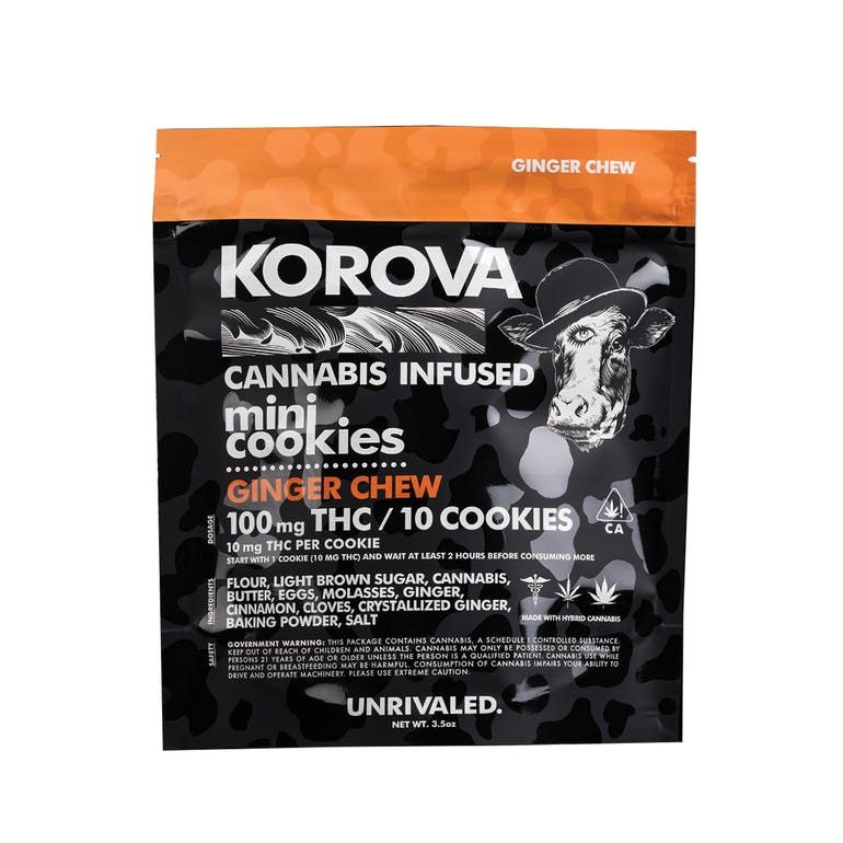 Korova's Mini Ginger Chews 100mg