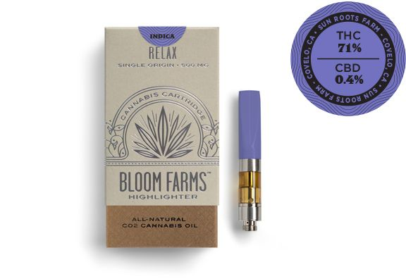 Bloom Farms Cartridge JAH GOO Indica $35