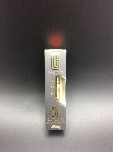 Nothern Lights 500mg Live Resin Cartridge by Ganja Gold