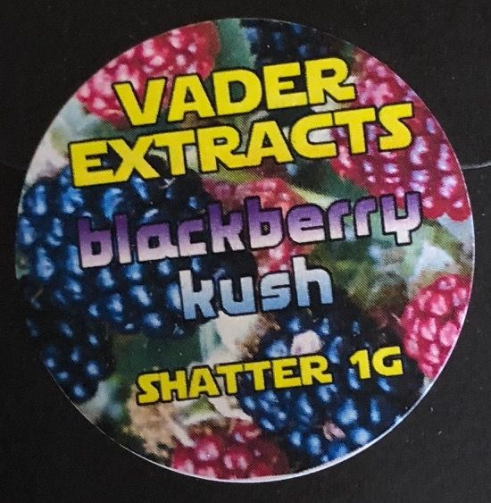 Vader Extracts - Blackberry Kush Shatter