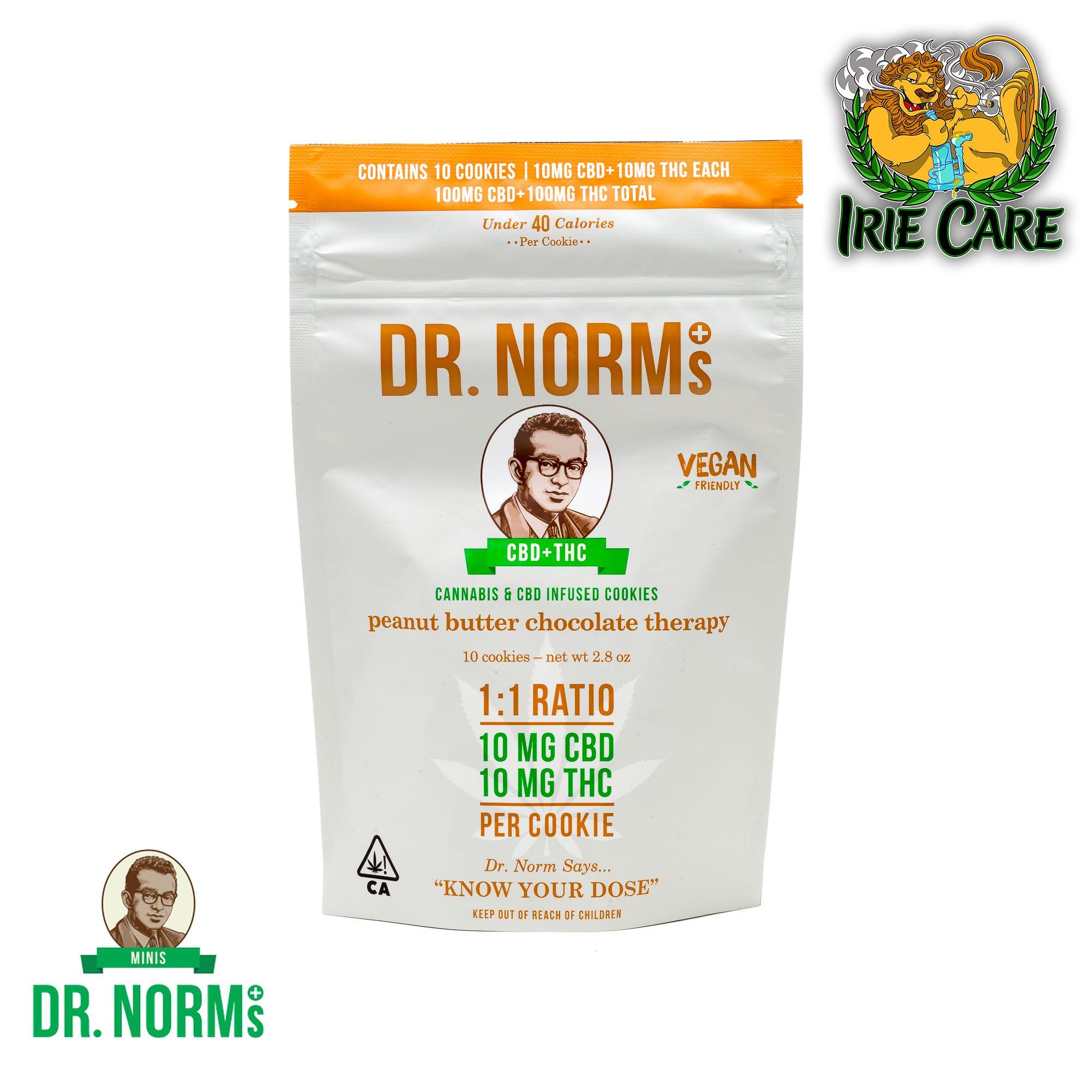 Dr. Norm's Peanut Butter Choc CBD Cookies (10 cookies - 100mg CBD/100mg THC)