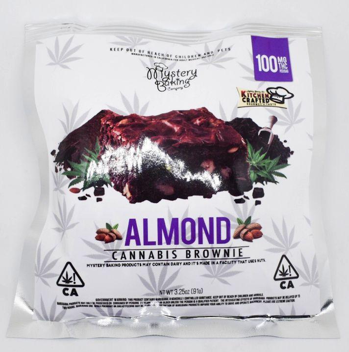 Almond Brownie 100MG- Mystery Baking