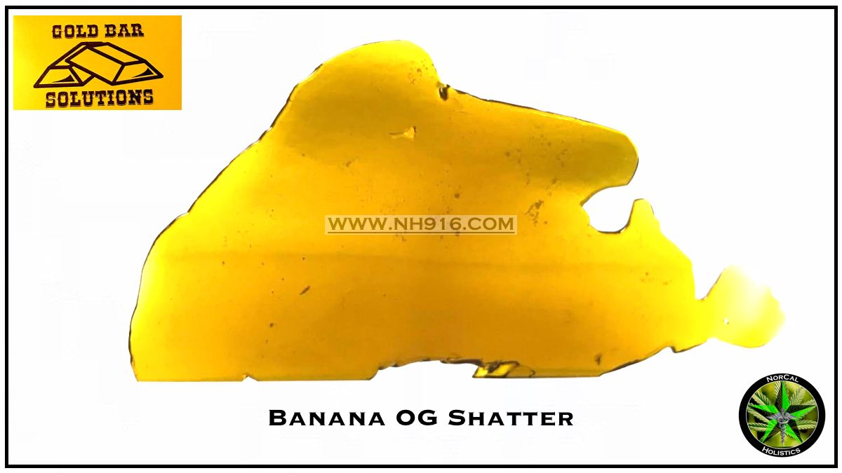 [Gold Bar]  Banana Kush Shatter