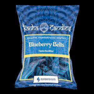 Kanha Candies- Blueberry Belts- 400MG