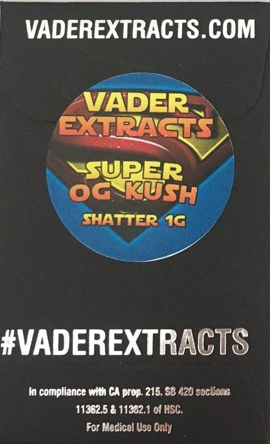 Vader Extracts-Super OG Kush Shatter 1g