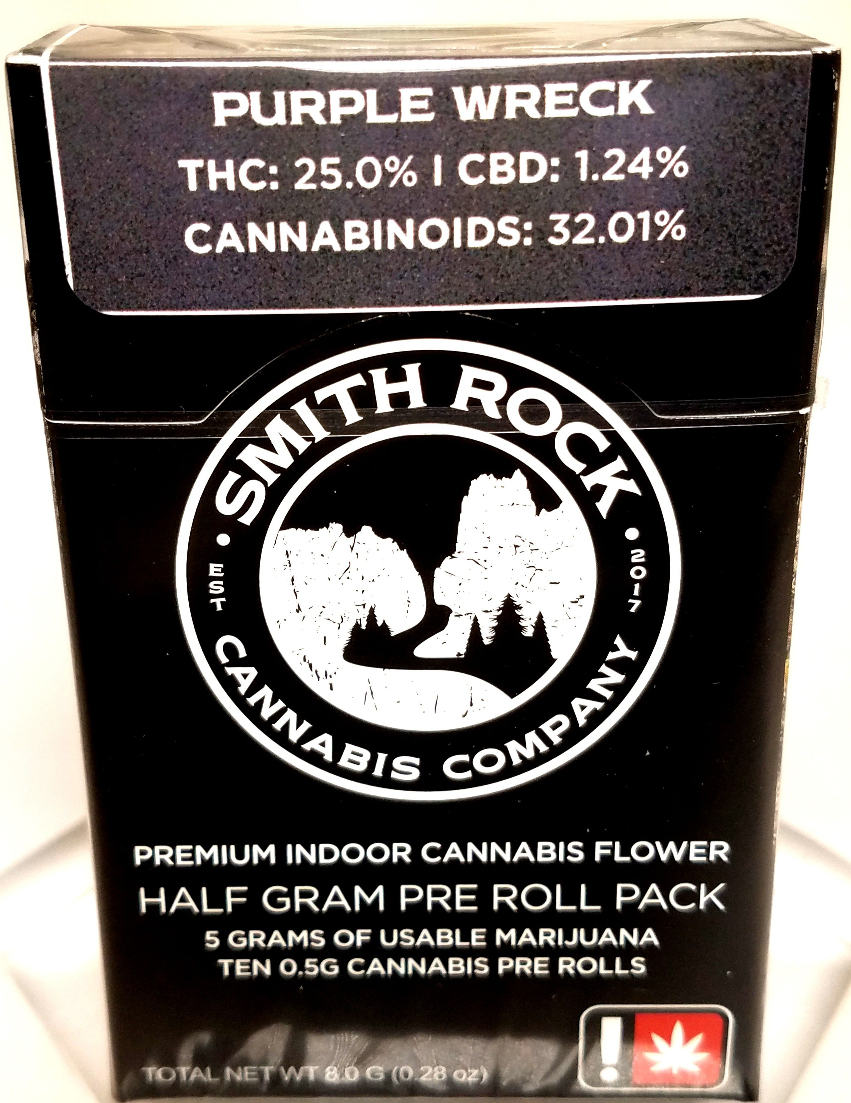 Smith Rock Cannabis Company - Purple Wreck, Hybrid, 10 Pack