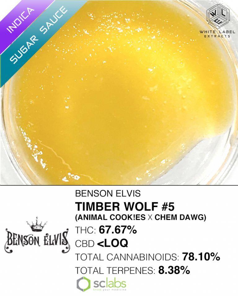 WLE - Timber Wolf #5, Indica, Sugar Sauce
