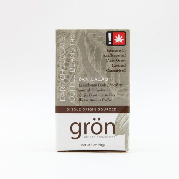 Grön - Dark Chocolate Covered Coffee Bean Bits with THC