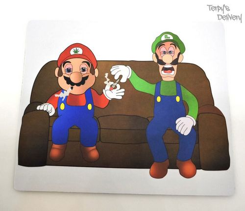Mario & Luigi Couch Dab Mat