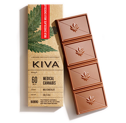 KIVA CONFECTION BAR *MILK CHOCOLATE * 60MG