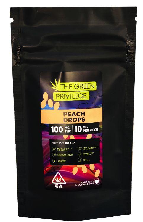 Peach Drops 420MG- The Green Privilege