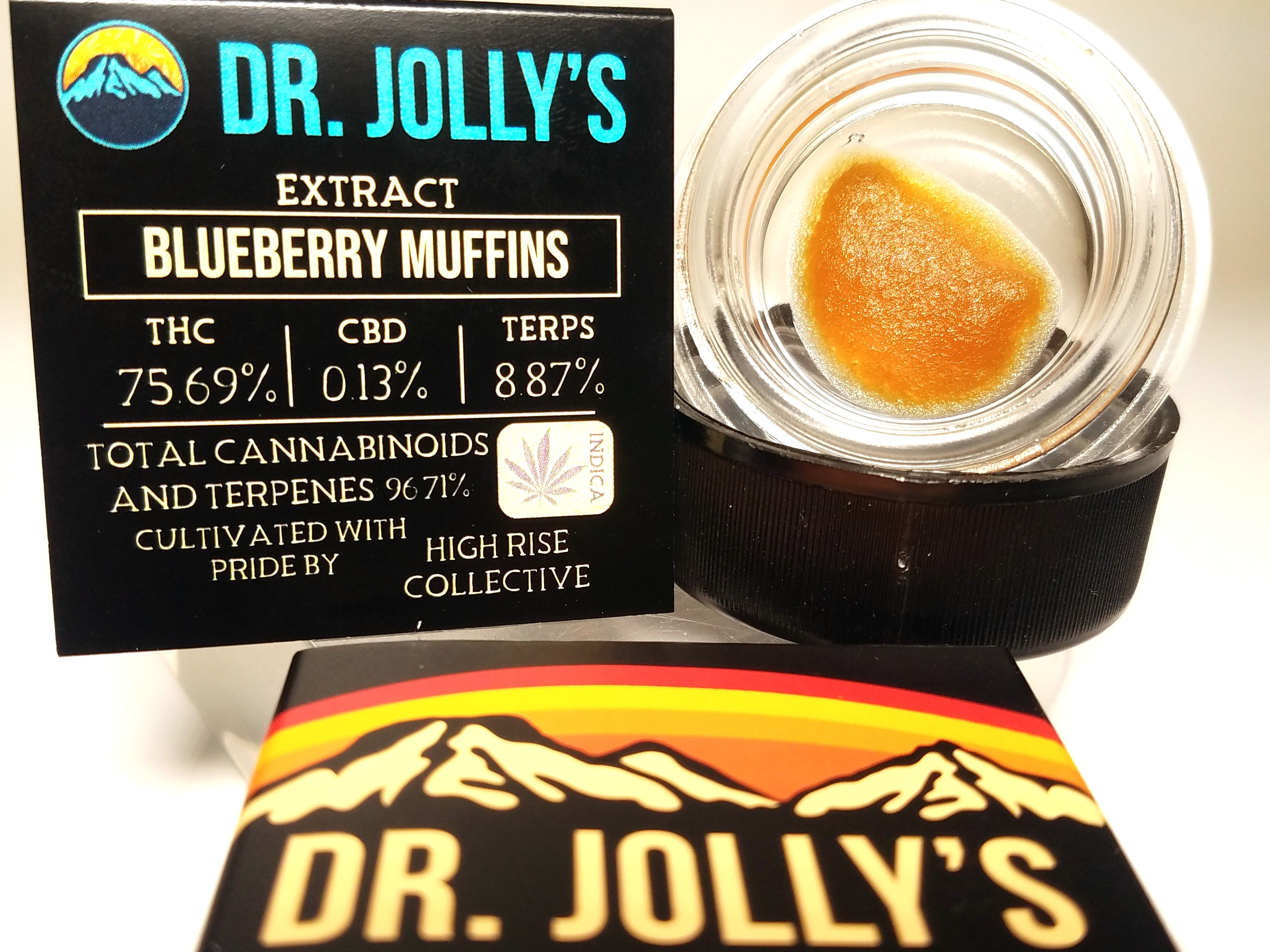 Dr. Jolly's - Blueberry Muffins, Hybrid, Sugar Wax