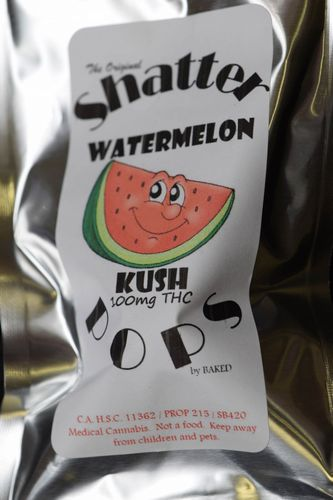 Shatter Pop - Watermelon Kush Lollipop 100mg