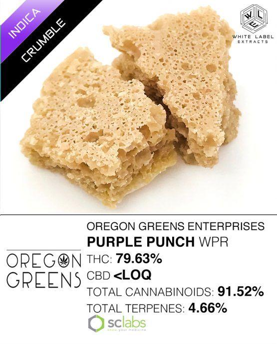 WLE - Purple Punch WPR, Indica, Honeycomb