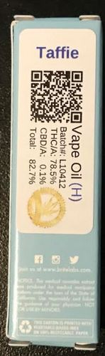 Brite Labs Taffie .5 cart 78.5% THC