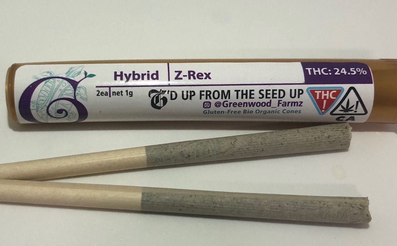 Greenwood Farms Pre-rolls (2-count) - Z-Rex (Hybrid)
