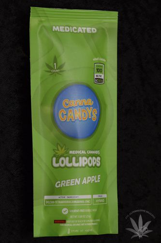 CannaCandys Lollipop - Sour Apple