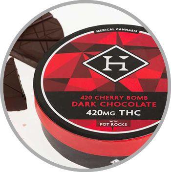 Hashman - Cherry bomb Dark Chocolate