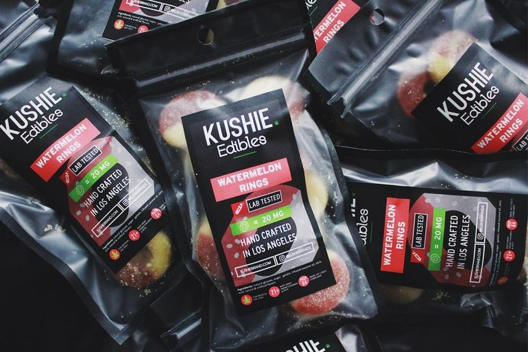 Kushie Brand Watermelon Rings - 320mg
