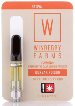 Winberry Farms - Durban Poison, Sativa, Distillate Cart