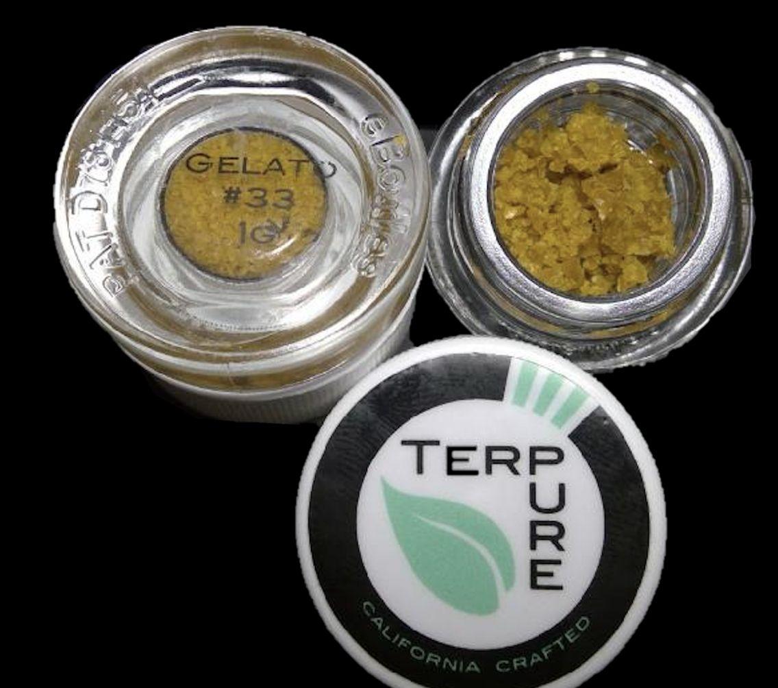 Gelato PR Crumble  (Indica/Hybrid)  by Terpure