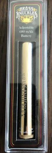 Brass Knuckles gold adjustable pen