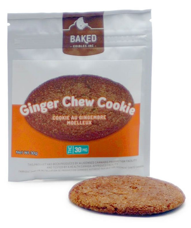 Baked Edibles Ginger Chew Cookie