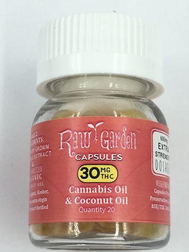 30mg THC Capsules (600mg jar) | Raw Garden