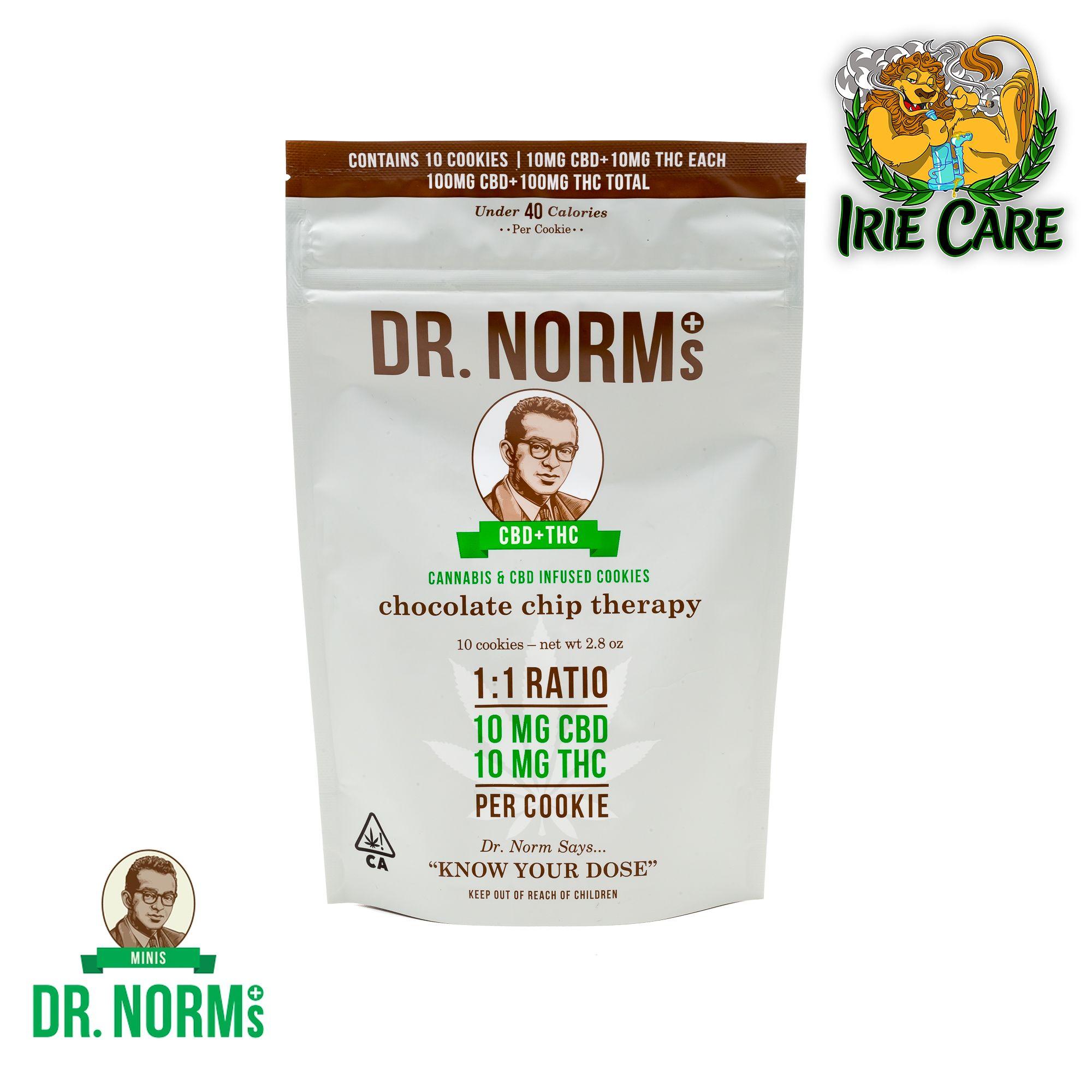 Dr. Norm's Chocolate Chip CBD Cookies (10 cookies - 100mg CBD/100mg THC)