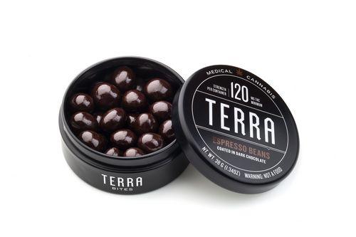 Kiva Terra Bites 120mg Espresso Beans