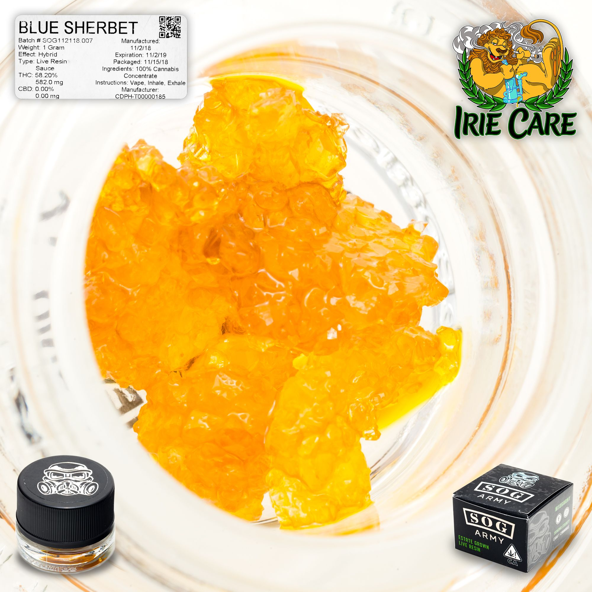 SOG Army - Blue Sherbet *Live Resin Sauce*