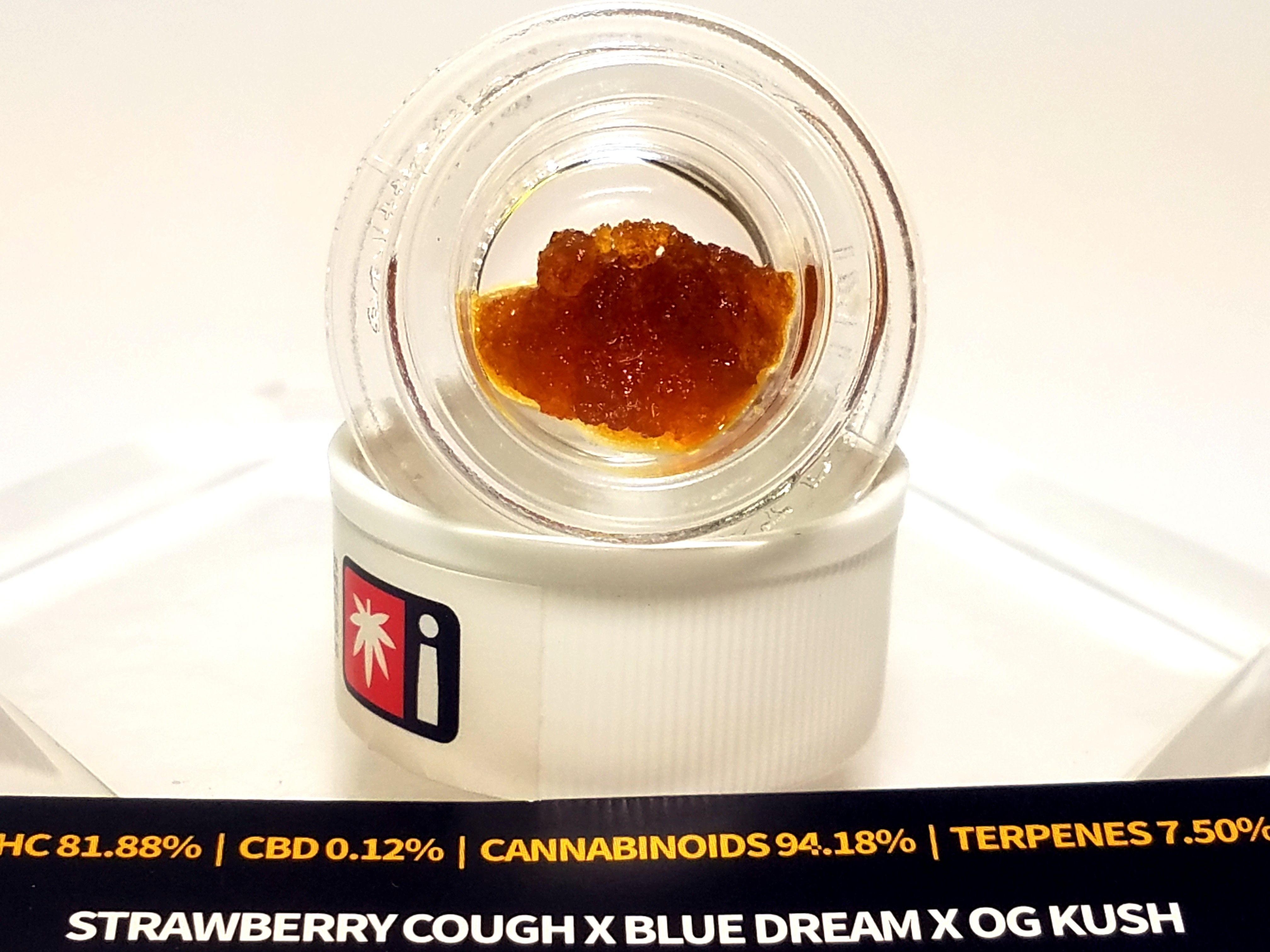 Bobsled - Strawberry Cough x Blue Dream x OG Kush, Hybrid, Live Resin
