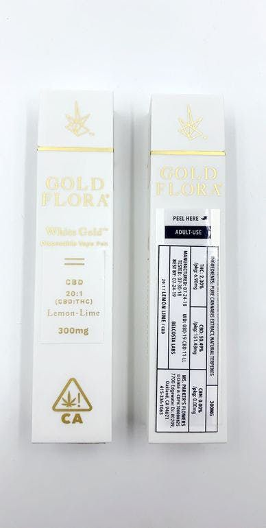 Gold flora - Lemon Lime (20:1 CBD) - 300mg Disposable Pen
