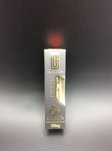 Gelato 500mg Live Resin Vape Cartridge by Ganja Gold