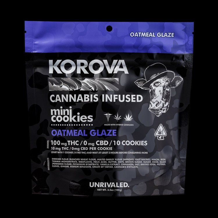Korova Oatmeal Glaze Mini Cookies $20