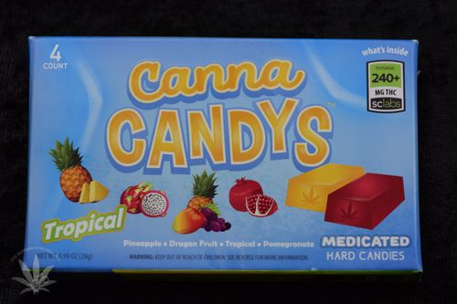 CannaCandys Hard Candy 4 pack - Tropical