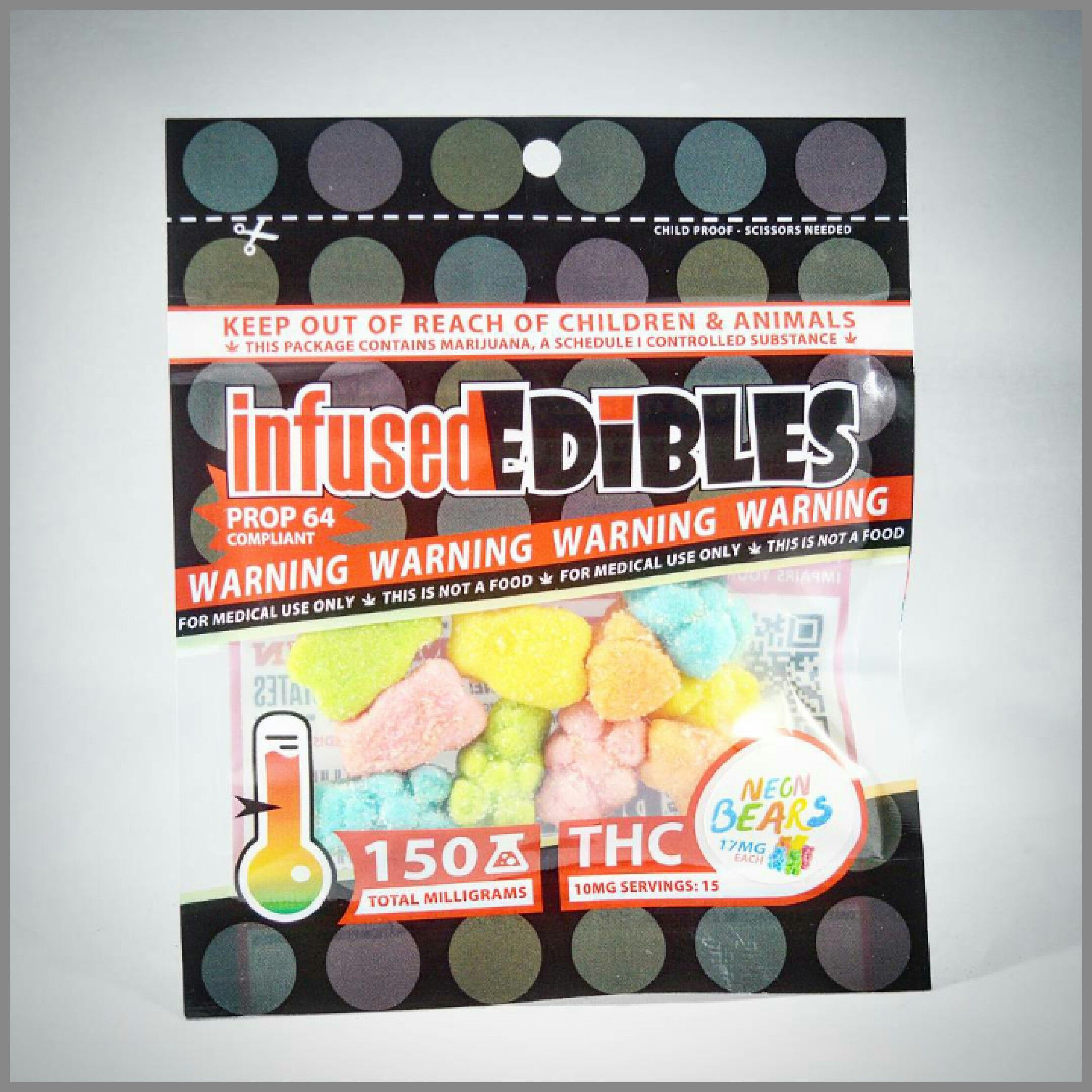Neon Bears - Infused Edibles - 150mg