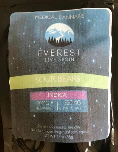 Everest-LIVE RESIN- Sour Gummy Bears 320mg